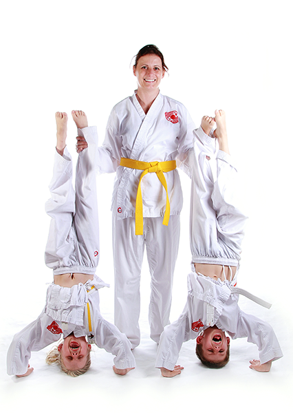 Fun together in karate