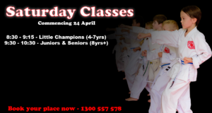 Read more about the article Saturday Morning Classes Commencing 24 April