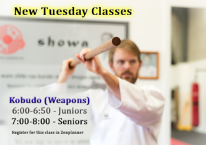 Read more about the article New Kobudo (Weapons) Classes